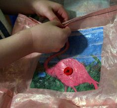 """Tutuorial on how to make fused plastic """"fabric"""" to sew tote bags.  Great way to upcycle plastic shopping bags."""