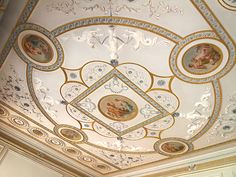 The Drawing Room Ceiling - Berrington Hall - Leominster - Herefordshire - England