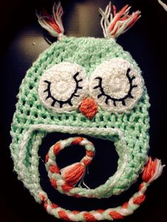Owl Crochet hat by UnToqueDeGlamour on Etsy, $10.00