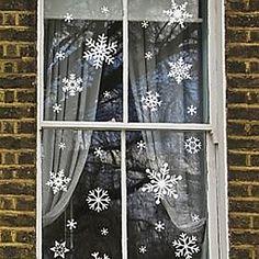 Merry Christmas Elegant Solid Snowflake Window Sticker (11.76