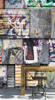 Wannahaves 'more graffiti' Di2027 - voor een stoere tiener - jongenskamer. Haast niet van echt te onderscheiden. Voor een supper coole look op je muur. http://www.decohome.nl/assortiment/behang/dimago/4008