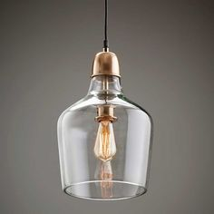 """Love these... but we must decide on the """"metal"""" finish throughout the bar so it all blends.. Copper? Brass? Chrome etc Glass pendant with copper top.Part of the Florence collection."""