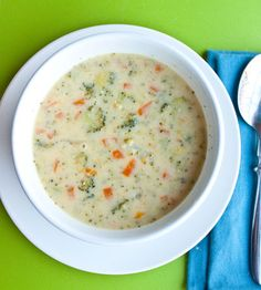 Lightened Up Broccoli Cheese & Potato Soup