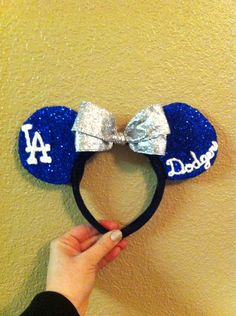 Sport Minnie/Mickey Mouse Ears by MagicalMickeyEars on Etsy, $24.99