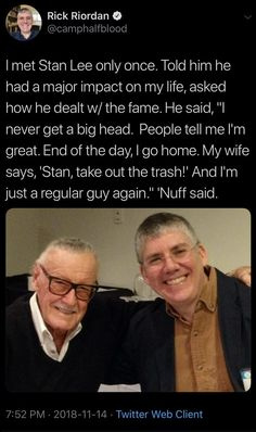 Stan the Man Marvel Funny, Marvel Memes, Marvel Avengers, Marvel Comics, Frank Miller Comics, Fandom Crossover, Rick Riordan Books, Percy Jackson Fandom, Uncle Rick