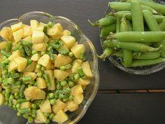 grøn kartoffel salat med sennepsdressing