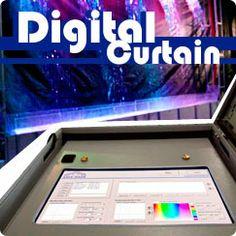 Digital water curtains