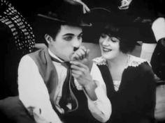 "Charlie Chaplin and Mabel Normand in ""Gentlemen of Nerve"" (1914)."