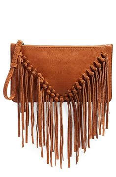 Sole Society Suede Fringe Clutch available at #Nordstrom
