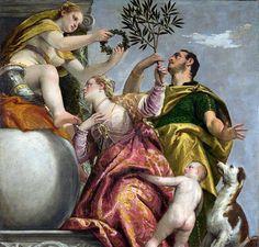 Quattro allegorie dell'amore: amore coniugale - rispetto - amore conteso o infedeltà - dispre (1570 circa; Londra, National Gallery)