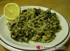Easy, quick, with great nutritional value, healthy but delicious too! Greek Recipes, Vegan Recipes, Spinach, Nutrition, Meals, Dinner, Vegetables, Cooking, Yum Yum