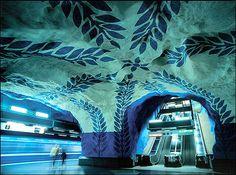 World Most Amazing Interior Design Of Subway Stations. Stockholm metro station