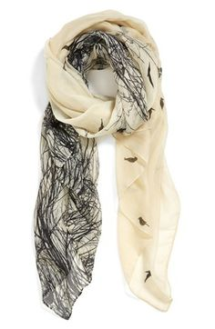 Evelyn K 'Bird Branch' Scarf