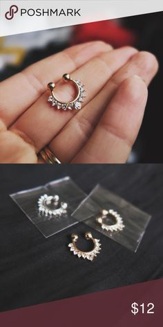 Boho Nose Ring Available in Gold, Rose Gold & Silver Jewelry