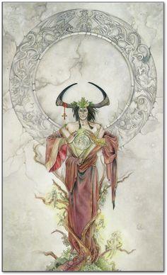 """Shadowscapes tarot, """"the Emperor"""""""