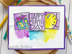create your everyday: { Impression Obsession Summer Stamp Release Celebration Day 1 } Handmade Flowers, Handmade Crafts, Impression Obsession Cards, Happy Birthday 18th, 2015 Planner, Celebration Day, Halloween 4, My Scrapbook, Clear Stamps
