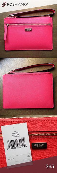 Spotted while shopping on Poshmark: Kate Spade coral Tinie wristlet NWT! #poshmark #fashion #shopping #style #kate spade #Handbags