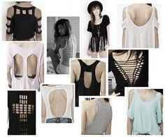 Diy t shirt cutting back day 46 httpinterestingfordiy t coco diy t shirt redesign ideas part 2 solutioingenieria Images