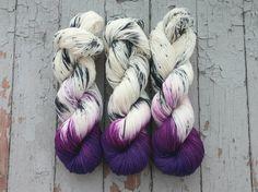 Speckled Sock Yarn Superwash Merino Nylon Fingering Weight Hand Dyed 100 g - Royals *In Stock