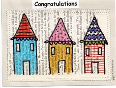 A quick and cute house-warming card idea. Housewarming Card, Rainy Day Fun, Cute House, House Warming, Card Making, Scrapbooking, Real Estate, Crafts, Handmade