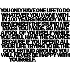 Live by it.