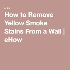 Tsp Really Works Great To Remove Nicotine From Walls This