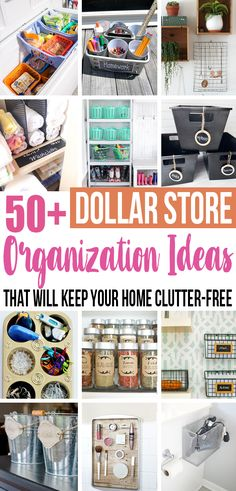 Who knew keeping your home organized doesn't have to be expensive? I am definitely picking up some of these things at the dollar store next time! #organization #dollartree #dollarstore