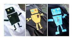 Robot appliqué template - to use w/magnetic cookie sheet