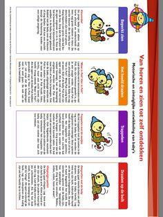 Op www.pukenko.nl zijn allemaal gratis leuke en handige ontwikkelingsgerichte tips te vinden m.b.t. Uk en puk Baby Tips, Baby Hacks, Babys, Words, School, Easy Meals, Babies, Schools, New Babies