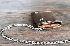 Trifold Chain Wallet Wallet Men's Leather Biker by JooJoobs