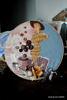 Embroidery Hoop Collage Art