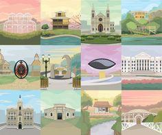 O artista Maycon Prasniewski desenvolveu uma série ilustrada de posters sobre pontos históricos e culturais de Curitiba. Importantes edifícios da...