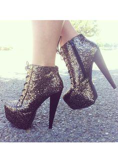 Glitterati Lace-Up Boots