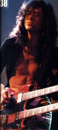 ~Jimmy Page ~watched him with Led Zeppelin Back in 1976 blew me the fuck away...