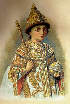 Unknown artist. Portrait of Peter the Great as a child in his Royal robes. Late 17th century. #Russian #history #Romanov