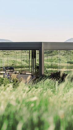 Solar, Glass Houses, High Class, Glass Design, Tiny Homes, Glass Door, Windows, Doors, Patio