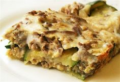 """This is my version of this yummy casserole which I first found in Sue Gregg's """"Meals in Minutes"""" cookbook. It can be made with ground (minced) […] Low Carb Recipes, Real Food Recipes, Cooking Recipes, How To Cook Zucchini, Cooking Zucchini, Bellini Recipe, Quirky Cooking, Fish And Seafood, Recipe Collection"""