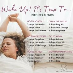Doterra essential oil Wake Up diffuser blends by Natalie Blackburne - All About Health Essential Oils Guide, Essential Oil Uses, Doterra Essential Oils, Young Living Essential Oils, Clary Sage Essential Oil, Oils For Energy, Essential Oil Diffuser Blends, Doterra Diffuser, Perfume