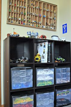 Simple and Decorative Lego Storage   One Mile Home Style