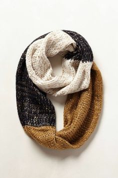 Festive Anthropologie colorblocked infinity scarf