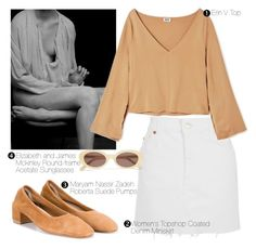 """Без названия #84"" by evgenia-trofimova ❤ liked on Polyvore featuring Topshop, Maryam Nassir Zadeh and Elizabeth and James"