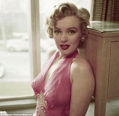 Vulnerable: Marilyn Monroe's fragility is clearly evident in this photograph taken by Philippe Halsman in 1952