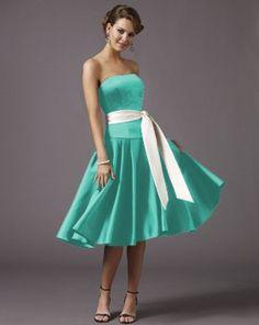 Bridesmaid Dress-tiffanyblue
