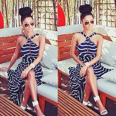 Cool Amazing 2017 Summer Women Striped Long Maxi Evening Party Dress Beach Dresses Sundress 2017/2018 Check more at http://24myshop.tk/my-desires/amazing-2017-summer-women-striped-long-maxi-evening-party-dress-beach-dresses-sundress-20172018/