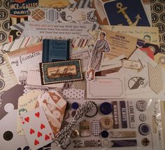 Vintage My Guy Men's Altered Book Inspiration Kit | Embellishments | Art Journal Mini Album | Scrapbooking Layout | Fancy Pants