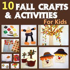 10 easy Fall crafts & activities for kids & preschoolers.