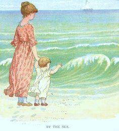 Waving at the waves #vintageseaside