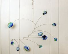 Hanging Mobile Art -  Namaste Style  Kinetic Mobile by skysetter