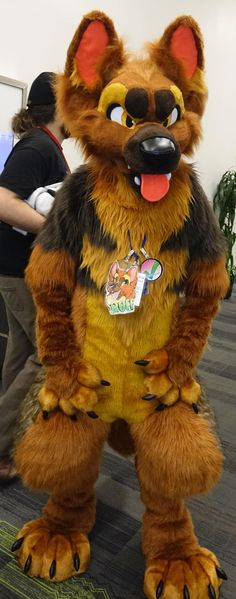 """fursuitpursuits: """"RT @Draconicarcher: and to stem the cute cavities, here's some Ruff the g-shep #FursuitFriday http://t.co/LNEbMLhj7k (Source) """""""