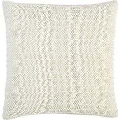 Linen Knit Pillow in Decorative Pillows I Crate and Barrel